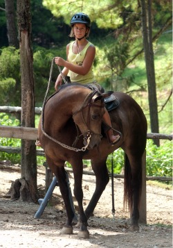 Birthday Girl Riding Horse