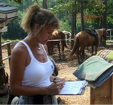 Carla Scheduling Riders at the Farm