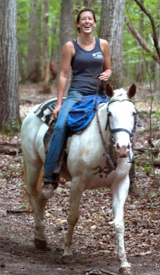 Girl Trail Riding Horse
