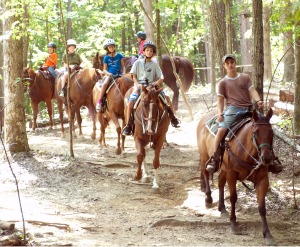 Aaron Leading a Trail Ride